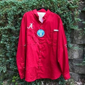 NWT Columbia Collegiate Tamiami Long Sleeve Shirt
